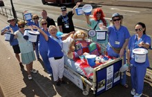 League of Friends charity bedpush
