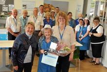 Annie Fuzzens long ervice volunteer award