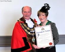 Lynne Hookings Honorary Freeman